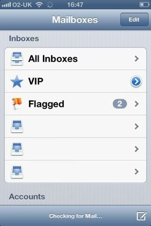 Apple iOS 6 Mail