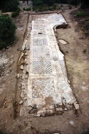 Roman mosaic uncovered in Turkey