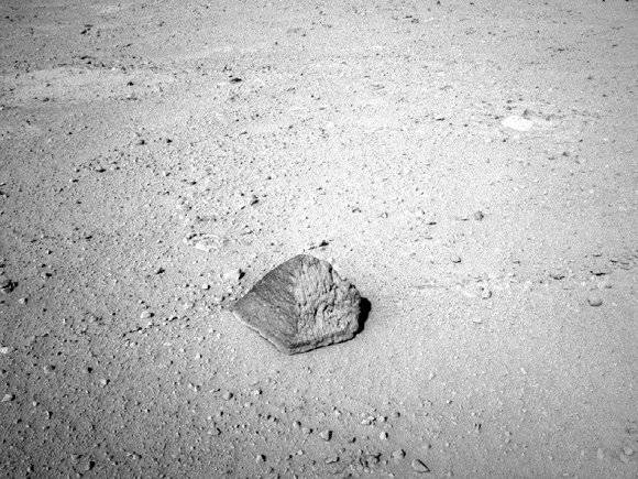 First rock target for Curiosity