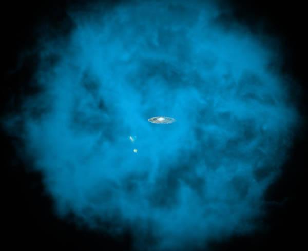 Massive gas cloud surrounding the Milky Way