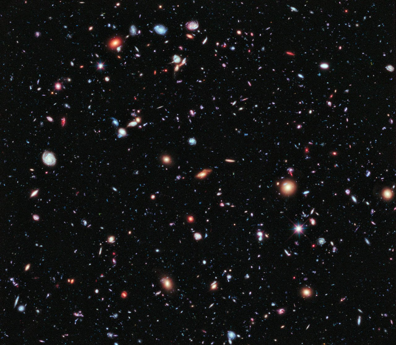 Nasa releases stunning image of our universe 39 s distant for Space created