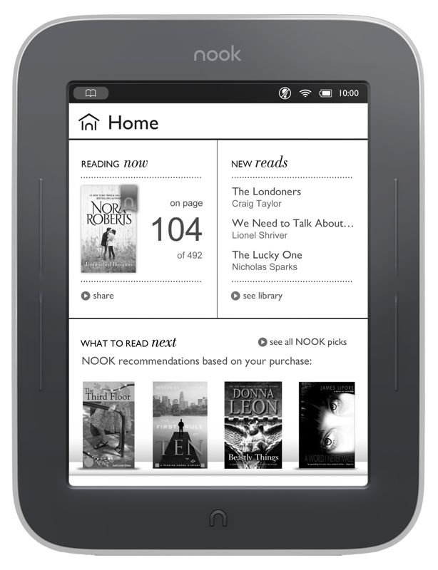 Barnes and Noble Nook Simple Touch GlowLight