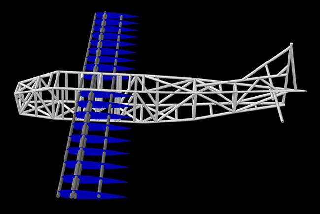CAD model of the Vulture 1