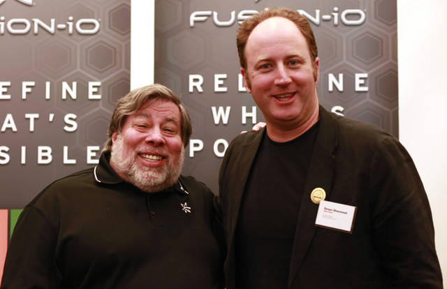 Steve Wozniak with Reg Hack Simon Sharwood