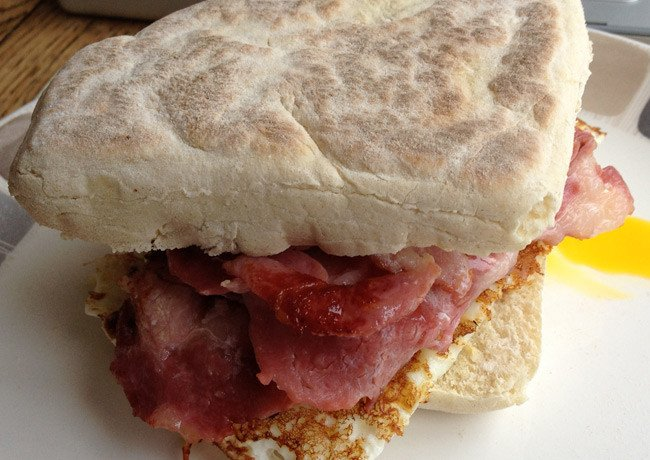 Phillip's bacon/soda bread combo