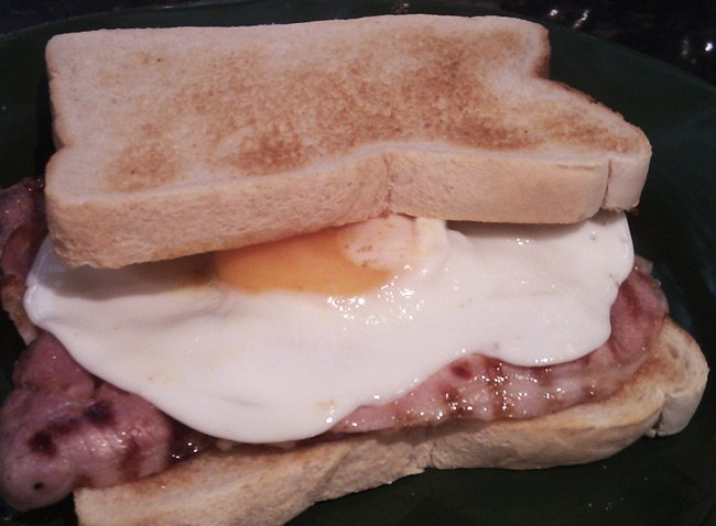 Sam Jarman's toasted sarnie with egg
