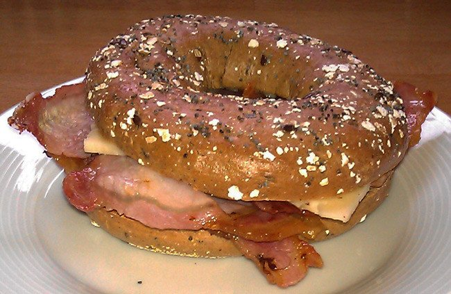 Tim's wholemeal bagel offering