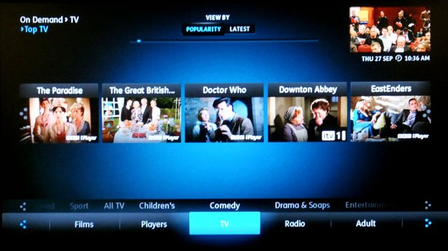 TalkTalk YouView set top box launch
