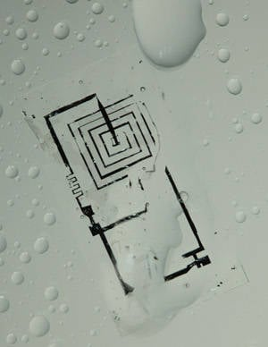 Dissolvable electronics in water