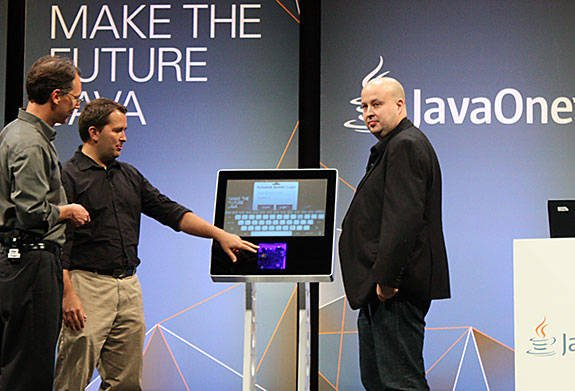 Photo of Java SE for Embedded being demoed at JavaOne 2012