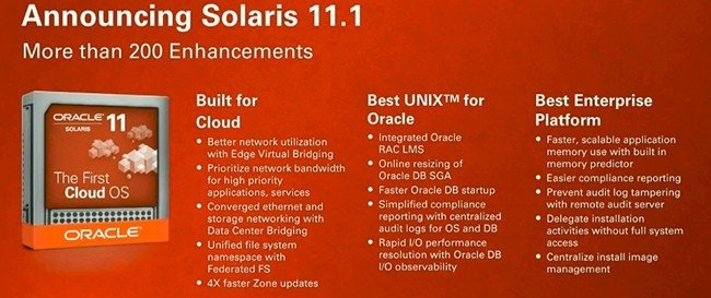 Features of Solaris 11 Update 1