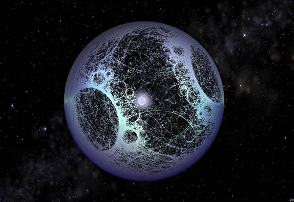 A star-surrounding Dyson Sphere (source: Sentient Developments)