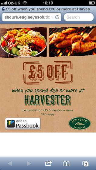 Harvester Passbook voucher