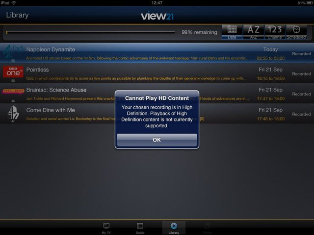 View21 VW11FVRHD50 Freeview+HD DVR