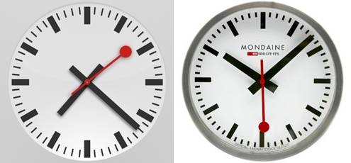 Swiss iOS clock