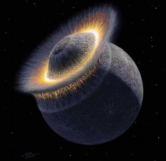 Giant impact, common at the end of planet formation