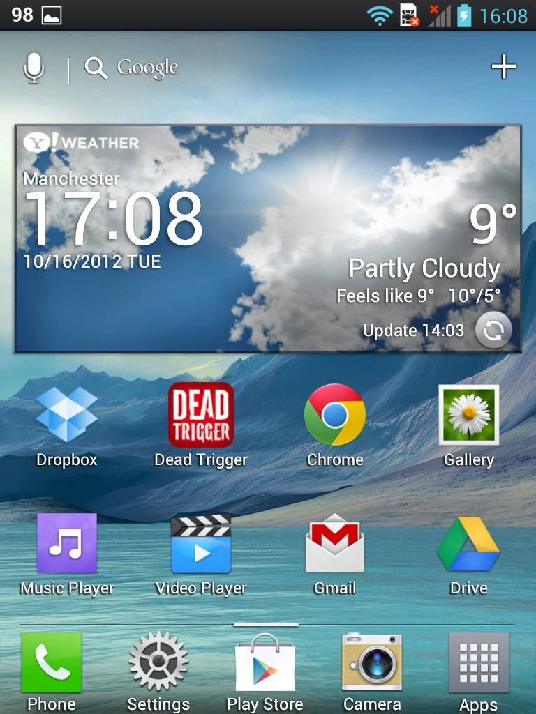Home Screen on LG Vu