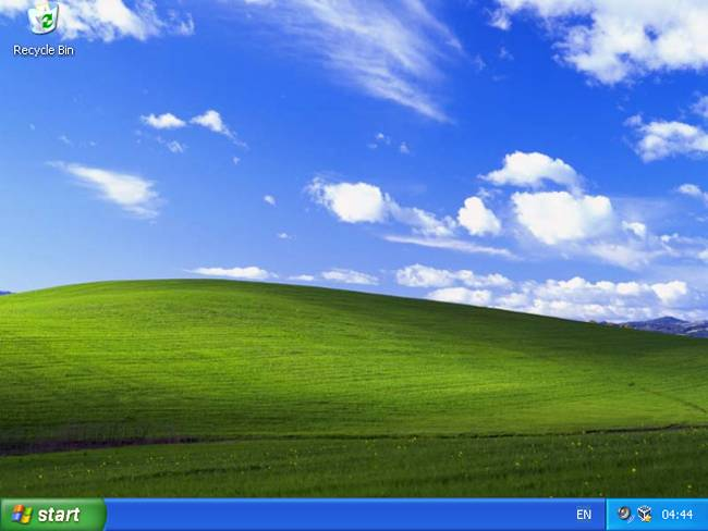 Windows XP Start Screen