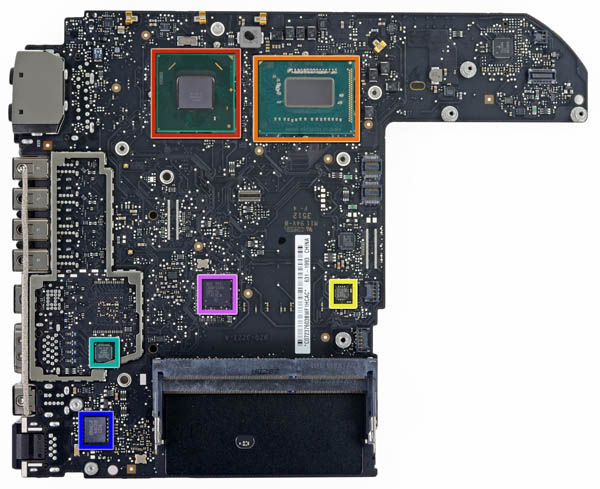 Mac mini logic board – bottom
