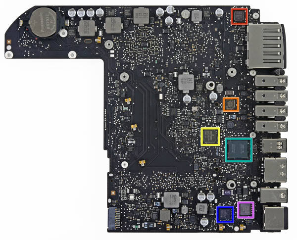 Mac mini logic board  top