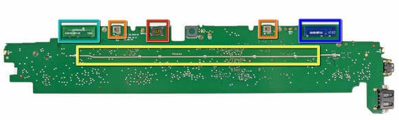 Microsoft Surface - logic board, bottom