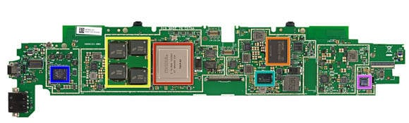 Microsoft Surface RT - logic board, top