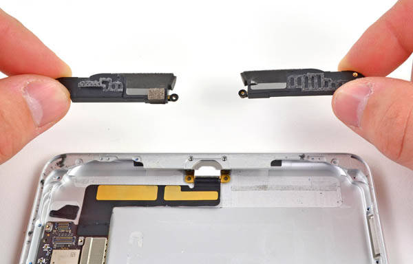 iPad mini stereo speakers