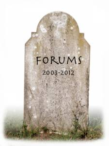 Atlassian's Forums tombstone