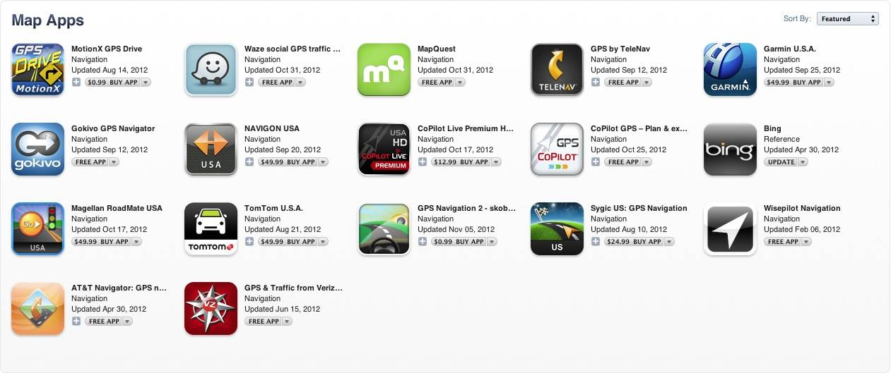 Apple mapping apps