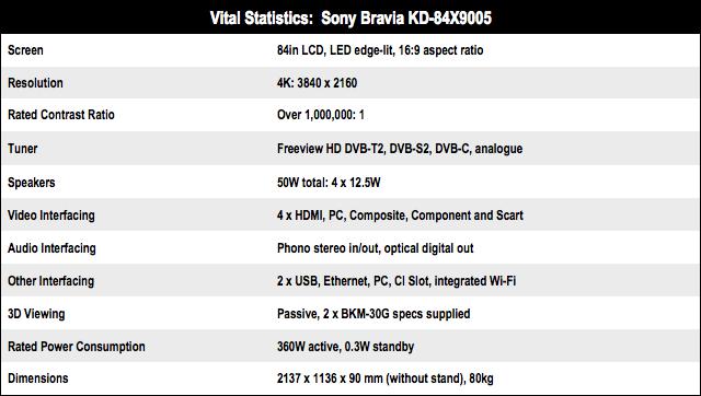 Sony KD-84X9005 84i
