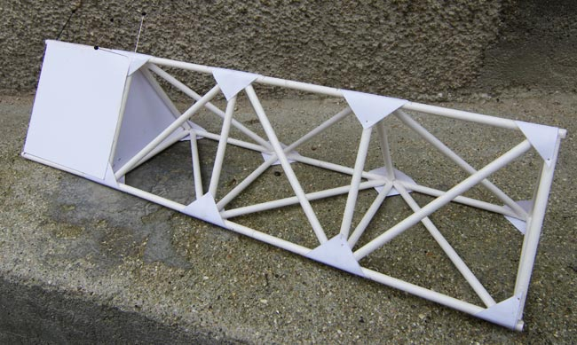 Our model flying truss under construction
