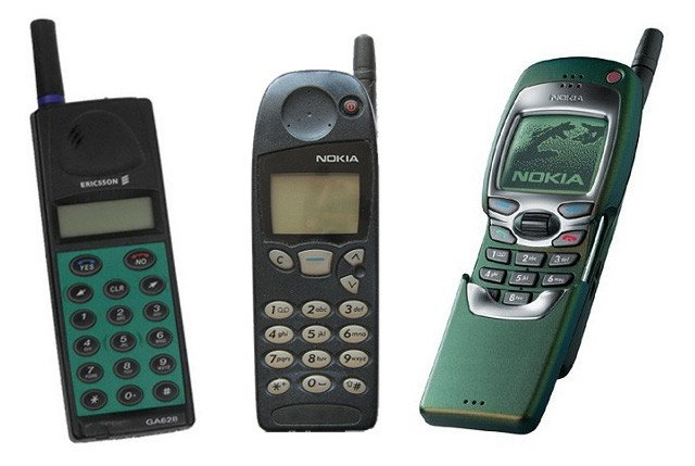 Ericsson GA628, Nokia 5110 and Nokia 7110