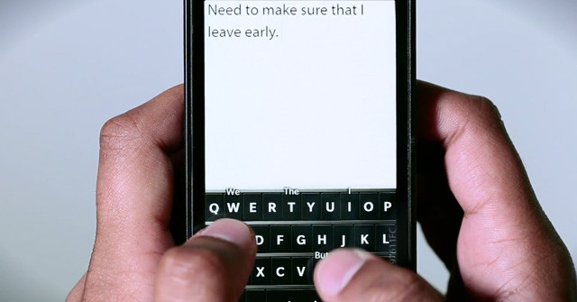 Sneak peak at BlackBerry 10