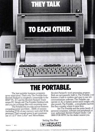 HP 110 advert