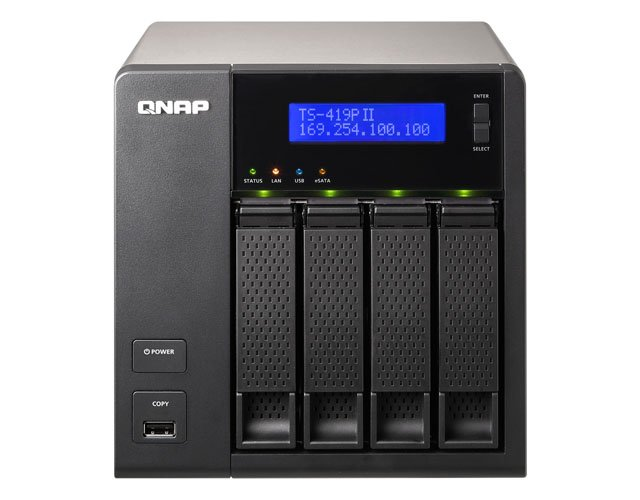 QNAP TS-419P II 4-bay NAS drive