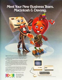 1984 Macworld Premier Issue  Davong hard drive ad