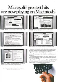1984 Macworld Premier Issue  Microsoft ad