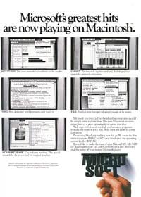1984 Macworld Premier Issue – Microsoft ad