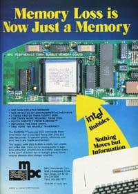 January 1985 PCWorld – Intel bubble memory ad