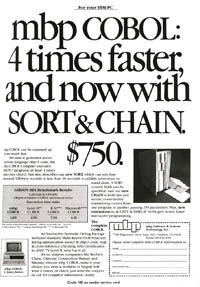 January 1985 PCWorld  mbp COBOL ad