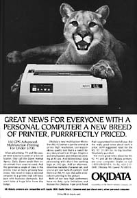 January 1985 PCWorld  Okidata dot-matrix printer ad