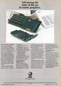 January 1988 Byte magazine  AT&amp;T TARGA ad