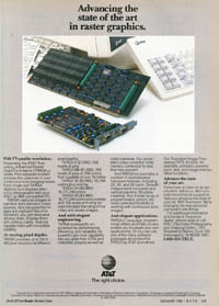January 1988 Byte magazine – AT&T TARGA ad
