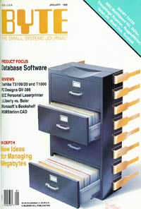 January 1988 Byte magazine  cover
