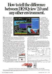 January 1988 Byte magazine – DESQ ad