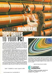 January 1988 Byte magazine  Flagstaff 9-track tape drive ad