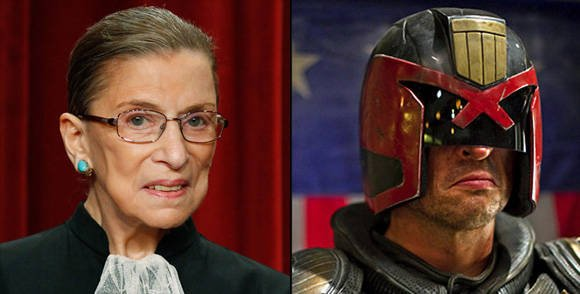 Compare: US Supreme Court Justice Ruth Bader Ginsburg and Judge Dredd