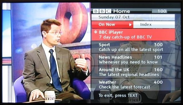BBC iPlayer via the Red Button