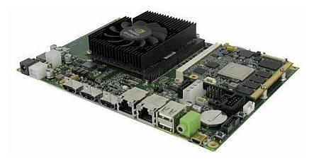 The Tegra3-Quadro 1000 ceepie-geepie hybrid board, made by SECO