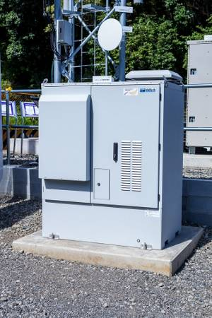 Cabinet with fuel cell